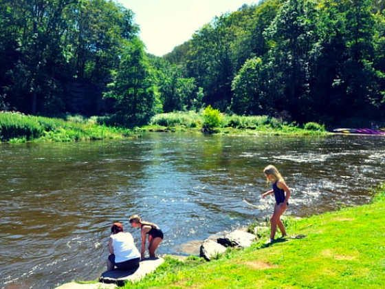 Belgique  Wallonie camping bord de rivière à vendre